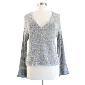 Feel The Piece Gray Knit Bell Sleeve Sweater XS/S